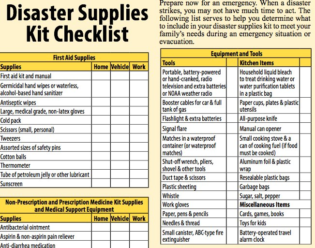 Disaster preparedness for seniors download the checklist for Emergency response checklist template